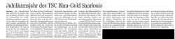 50 Jahre TSC Blau-Gold Saarzeitung 27.02.202